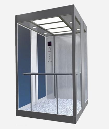 冯克别墅电梯-不锈钢层轿门